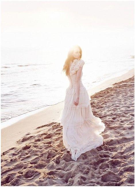 Vestidos de novia para matrimonio en la playa 4
