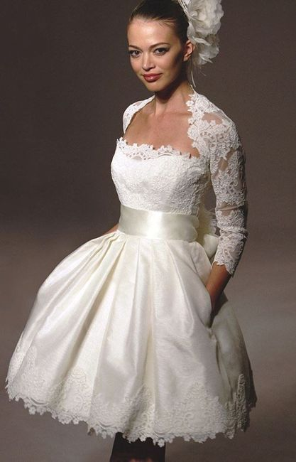11 vestidos de novia cómodos y cortitos