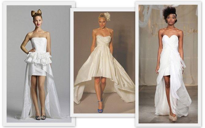d9f008368 Vestidos de novia cortos en el frente y largos detrás ¿si o no  5