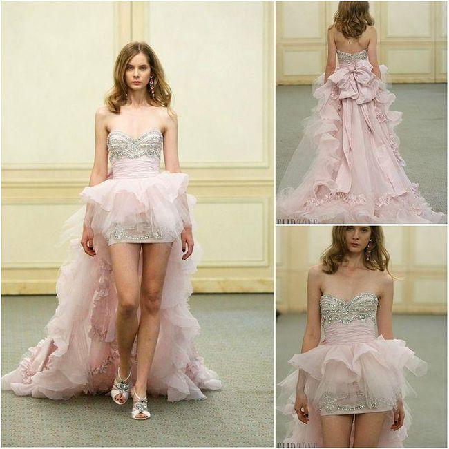 8a8f81fb Vestidos de novia cortos en el frente y largos detrás ¿si o no? 7