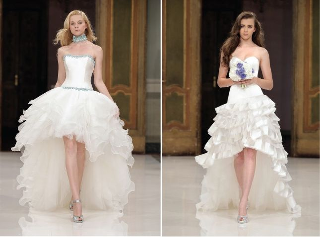 f3baa684c Vestidos de novia cortos en el frente y largos detrás ¿si o no  9