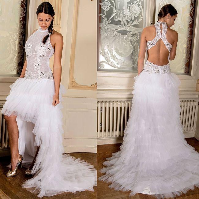 59335c9d4 Vestidos de novia cortos en el frente y largos detrás ¿si o no  13