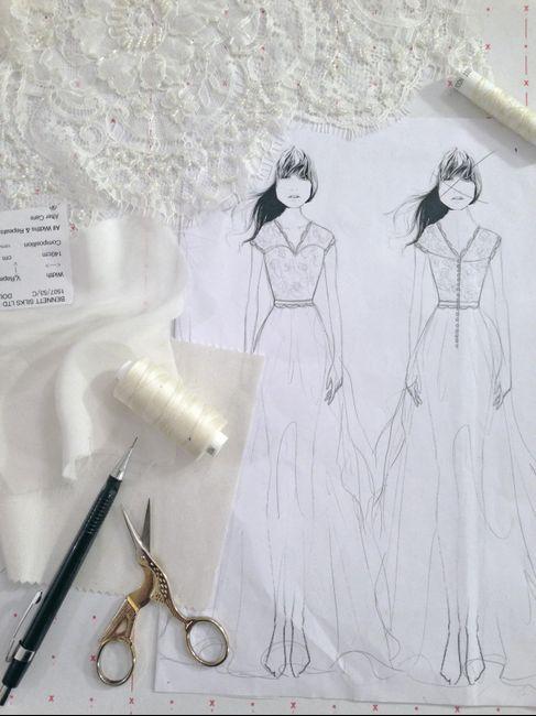 dónde mandaron a hacer el vestido de novia?