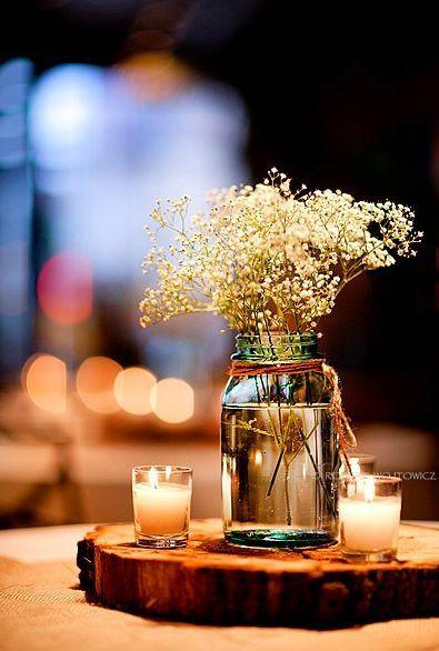Decoración Matrimonio Rustico : Velas para decorar un matrimonio rústico