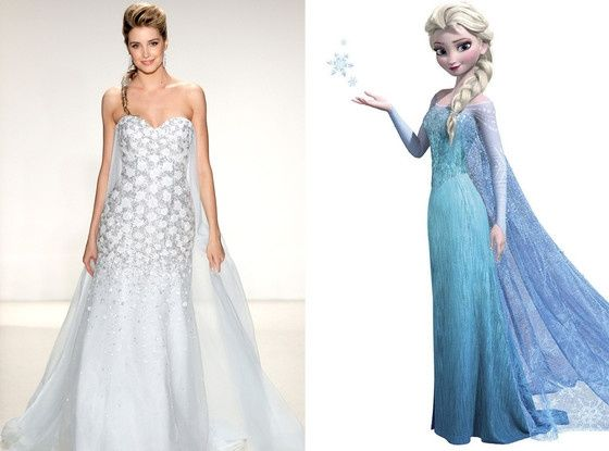 frozen: vestido de novia