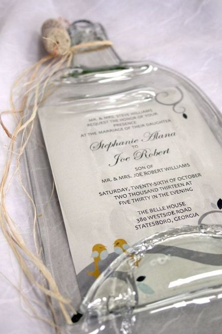 Invitaciones De Boda En Botella