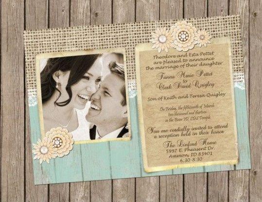 Tarjetas De Invitacion Matrimonio Vintage
