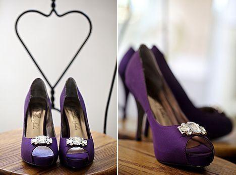 Zapatos en color morado 1