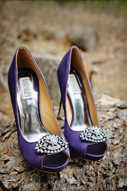 Zapatos en color morado 2