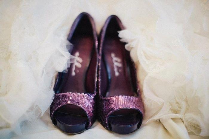 Zapatos en color morado 9