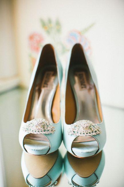 zapatos de color turquesa