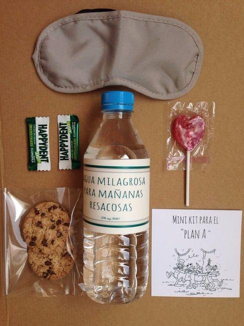 Van a regalar kit anti guayabo for Regalo para amigas especiales boda