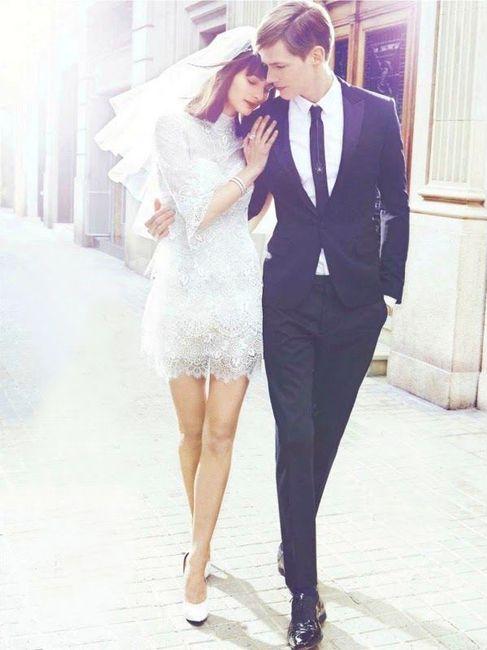 de novia cortos