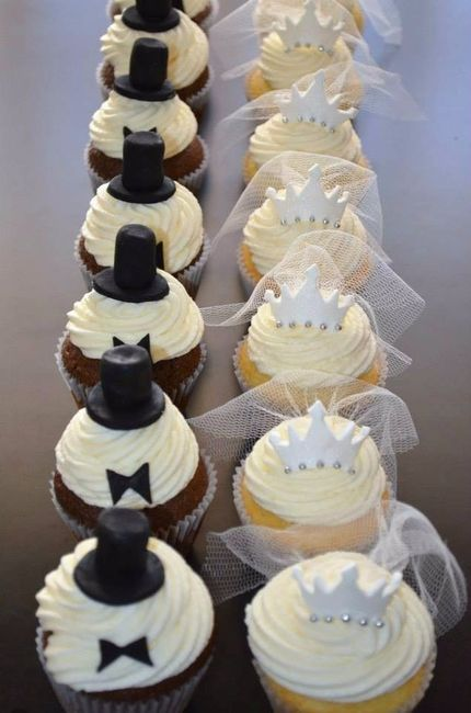 Torta de matrimonio o cupcakes en tu mesa de dulces? 2