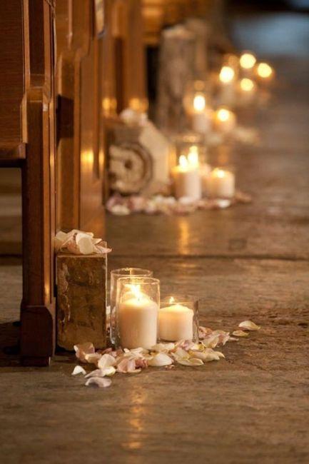 Decoraciones para la iglesia con velas for Decoraciones para decorar