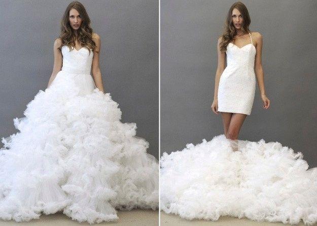Vestidos para la novia despues de la ceremonia