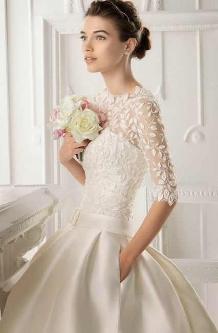 Vestido de novia manga larga bogota
