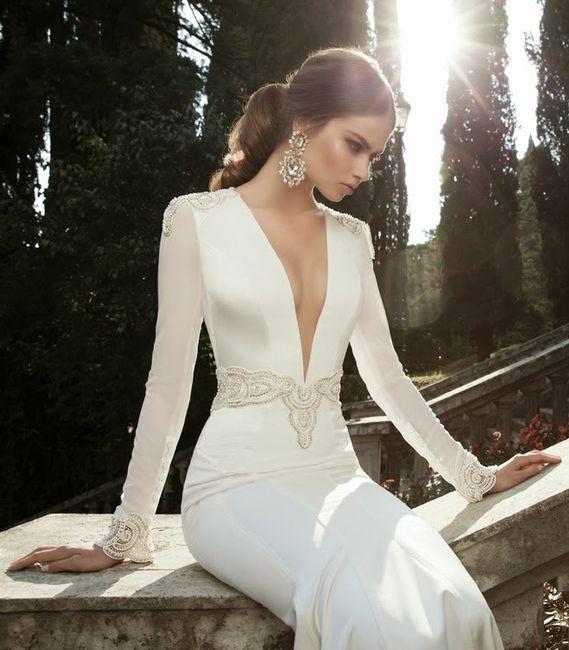 vestidos de novia con manga larga