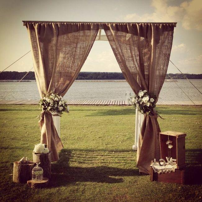1. Altar en la ceremonia