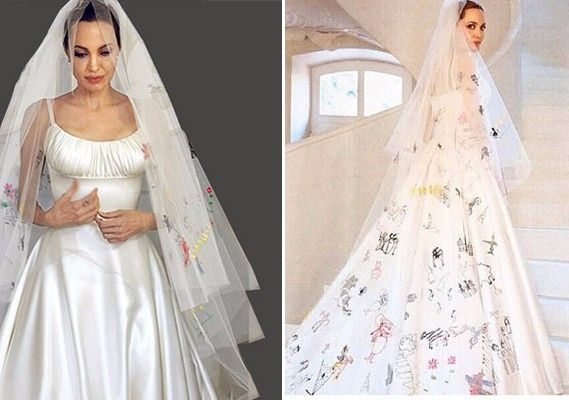 Battle Des Robes De Mariée Des Stars Angelina Jolie