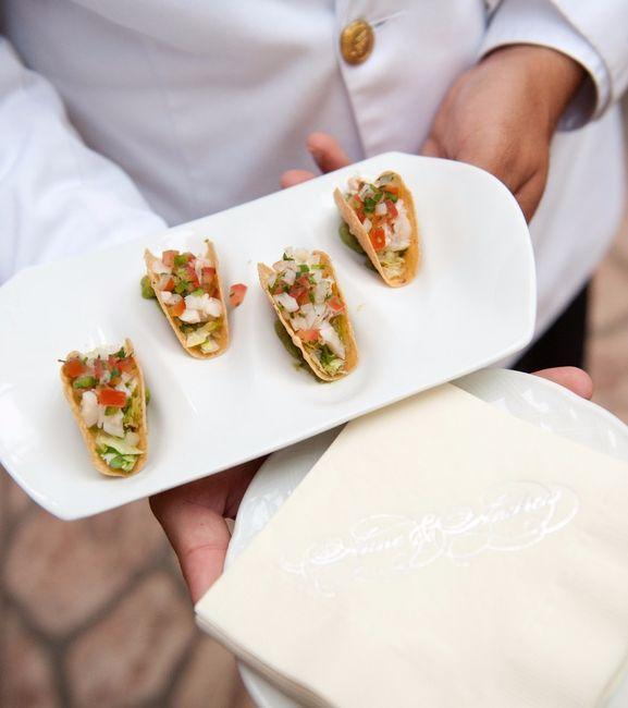 ¿Almuerzo o cena para el menú del matrimonio?