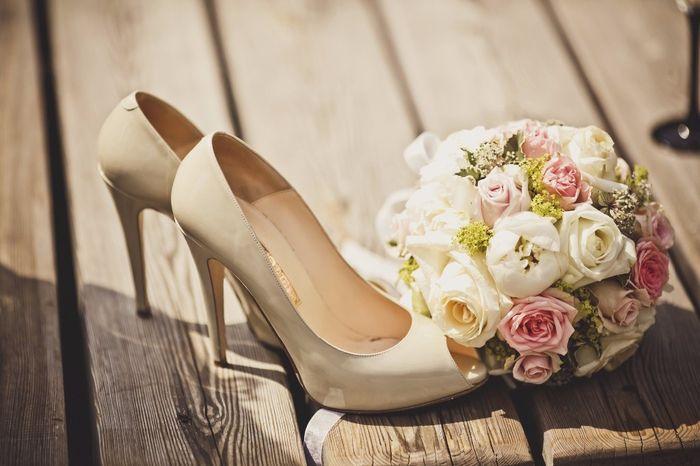 en qué tienda encontraste tus zapatos de novia?