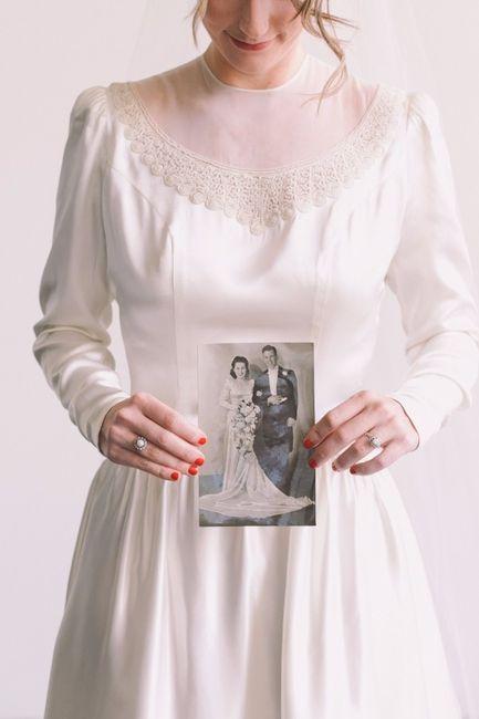 Usarías el vestido de novia de tu abuela?