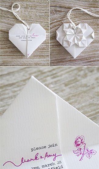 Matrimonio hecho con origami