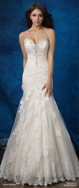 Vestido de novia con mucha cadera