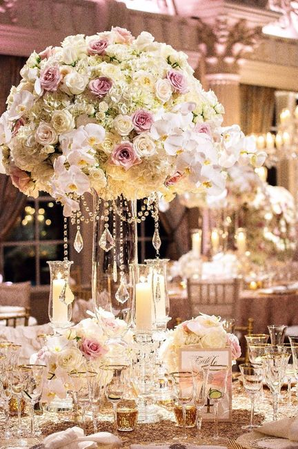 mi decoración palo de rosa y dorado
