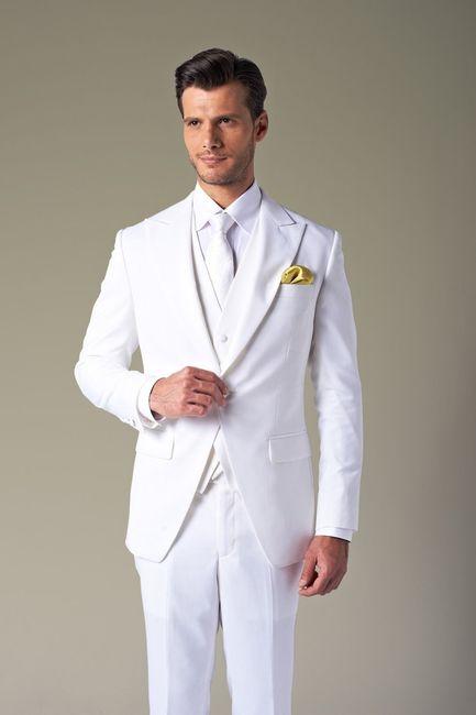 vestido de novio blanco para matrimonio