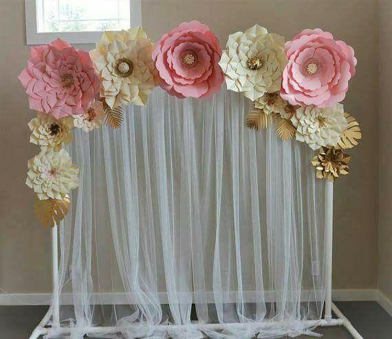 Decoraci n con flores de papel for Adornos con plantas de nochebuena