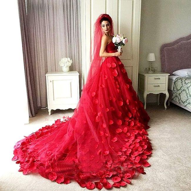 color rojo para tu boda parte 2 el vestido
