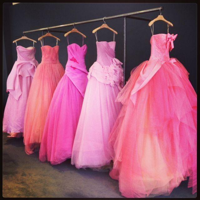 Vestidos pink de Vera Wang