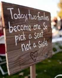Letrero para guiar a los invitados