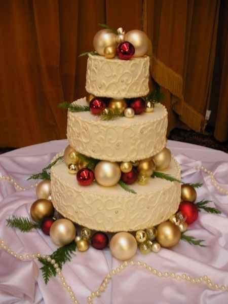 Torta navideña de matrimonio
