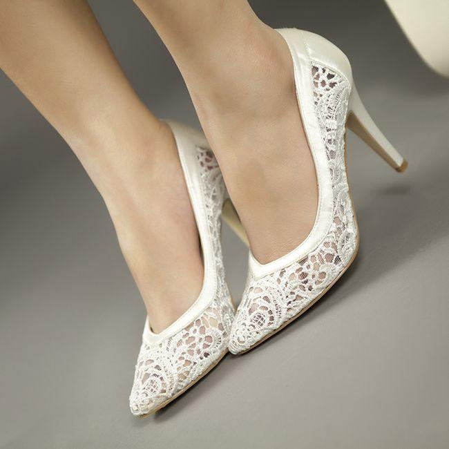 zapatos de novia con encaje ¿cuál eliges?