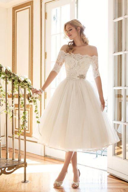Vestido de novia corte princesa para bajitas