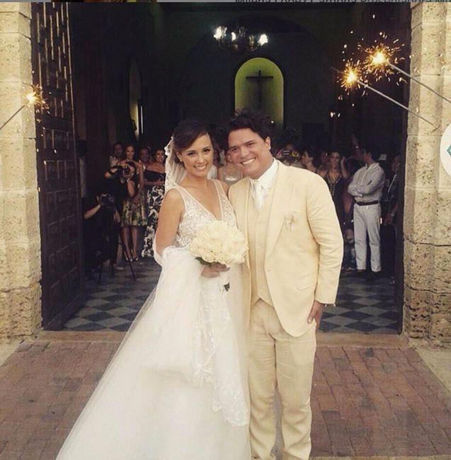 0572e38fc 5 mejores vestidos de novias de famosas Colombianas