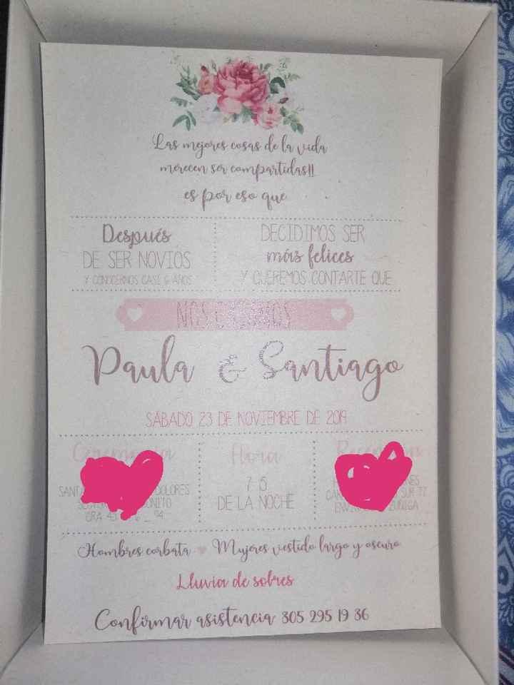 Tarjetas de invitacion - 3