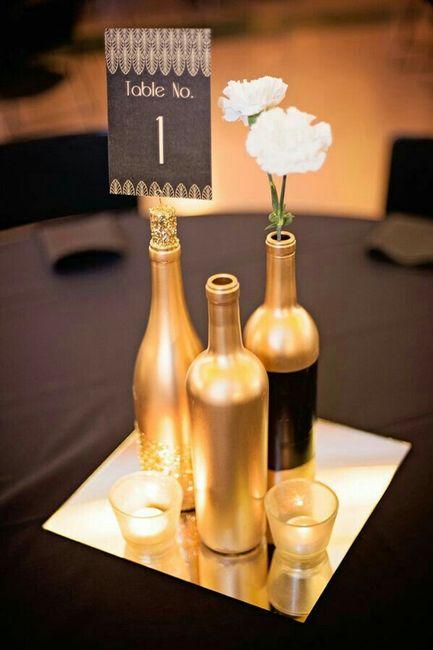 5 centros de mesa con frascos de vidrio 7