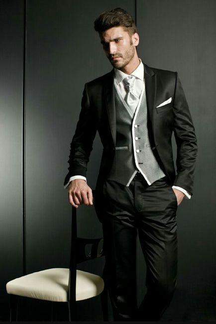 vestido de novio negro