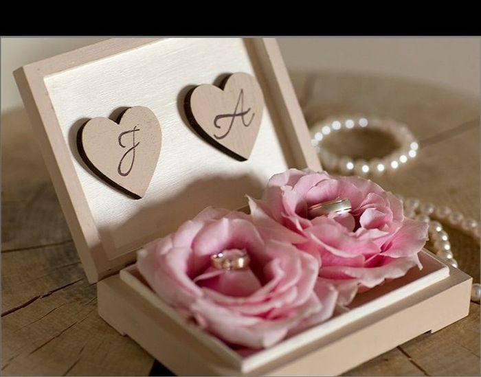 Alianza de boda:porta anillos 💍 2