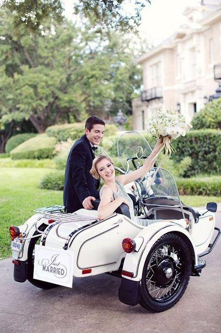 O transporte segundo a tua data de casamento 1