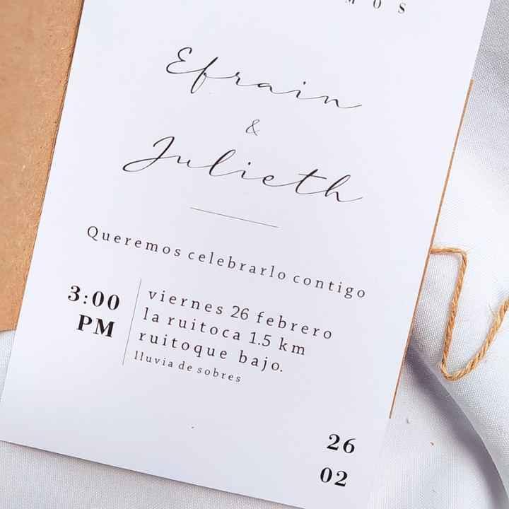 Tarjetas de invitación. - 4