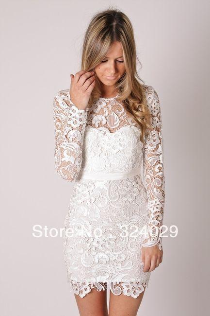 vestido largo o corto para la novia en una ceremonia civil??