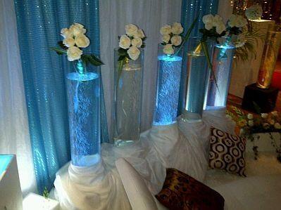 Centros De Mesas Para El Club De Novias Color Azul