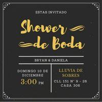 invitacion a shower de bodas