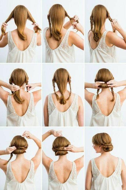 Novia de día vs Novia de noche: El peinado 4
