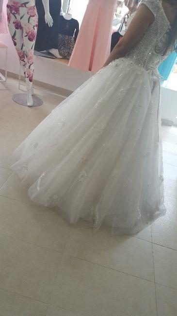 vestido de novia. pruebas y pruebas
